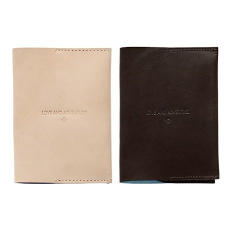 OYOY Passport Case light brown leather 12,5x9cm