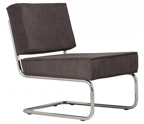 Zuiver Recliner lounge ridge rib gray 6a 58x75x79cm