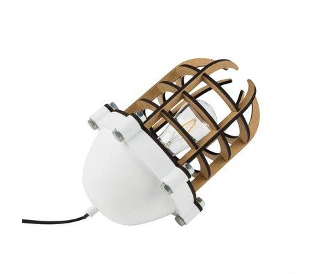 Zuiver Lampe de table Navigator blanc 22,5x32cm métallique