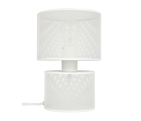 Zuiver Table Lamp Grid white metal 18x26,5cm
