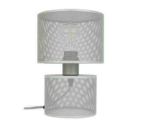 Zuiver Lampe de table Grille grise 18x26,5cm métallique