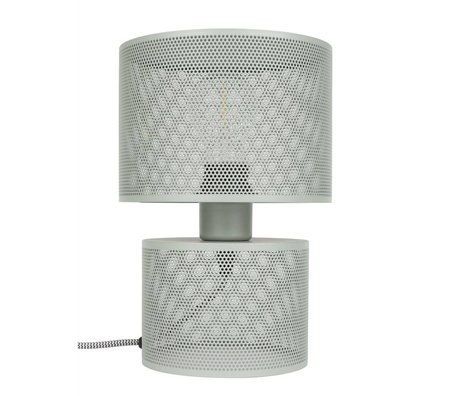 Zuiver Tischlampe Grid grau Metall 18x26,5cm