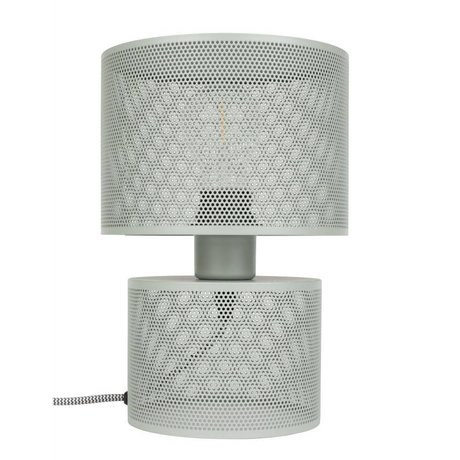 Zuiver Table Lamp Grid gray metal 18x26,5cm