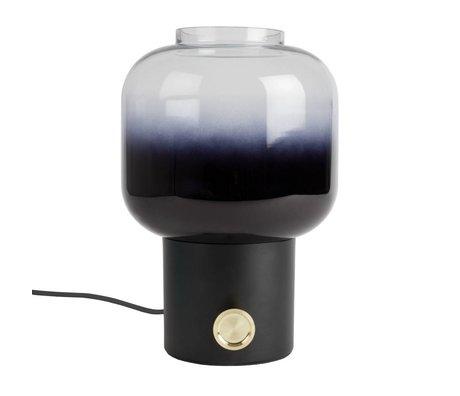 Zuiver Tischleuchte launisch schwarz Metall Glas 20x38,5cm