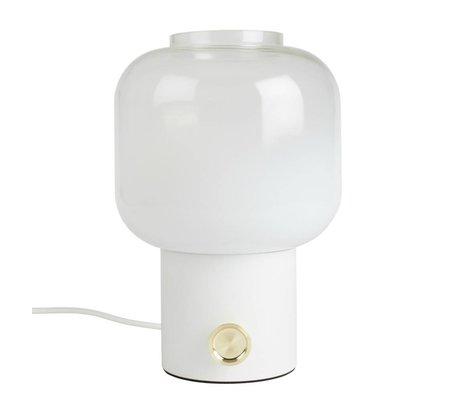 Zuiver Tafellamp Moody wit metaal glas 20x38,5cm