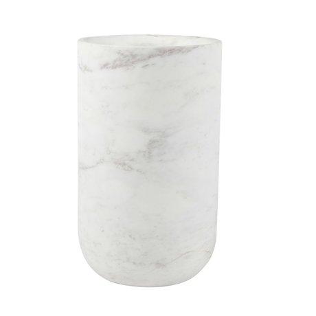 Zuiver Fajen vase en marbre blanc Ø15x25 cm