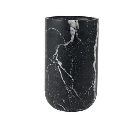 Zuiver Vase Fajen black marble Ø15x25cm