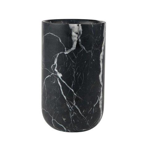 Zuiver Vaas Fajen zwart marmer Ø15x25cm