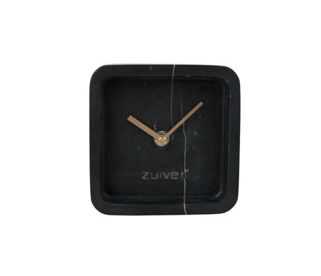 Zuiver Luxary clock time black marble 6x13x13cm