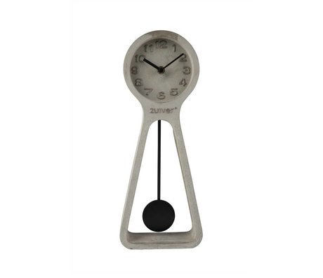 Zuiver Klok Pendulum time grijs beton 6x14,5x38cm