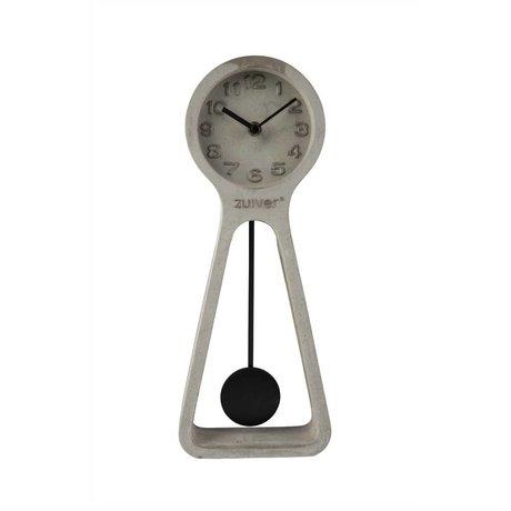 Zuiver gris horloge Pendule 6x14,5x38cm béton