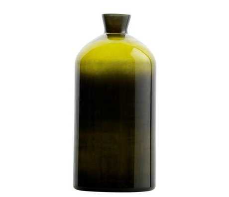 BePureHome Chemistry vase green glass XL 40xØ17cm