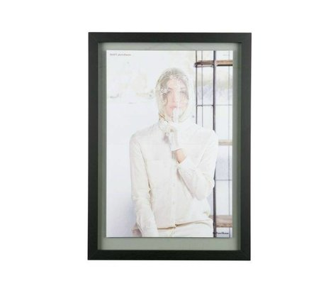 BePureHome Maj bois noir cadre XL 70x50x1,8cm