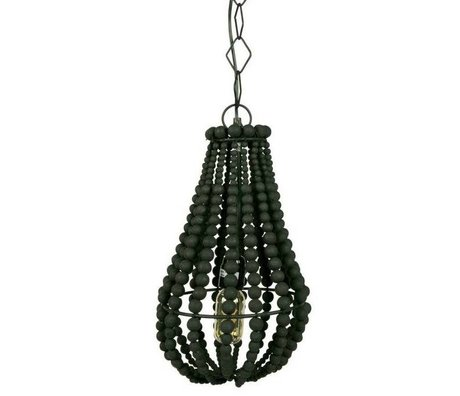 BePureHome Funale chandelier hanging lamp black wood S 28xØ23cm