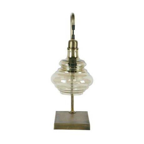 BePureHome Tischlampe Offensichtliche Messing Gold Metall 49x20x16cm