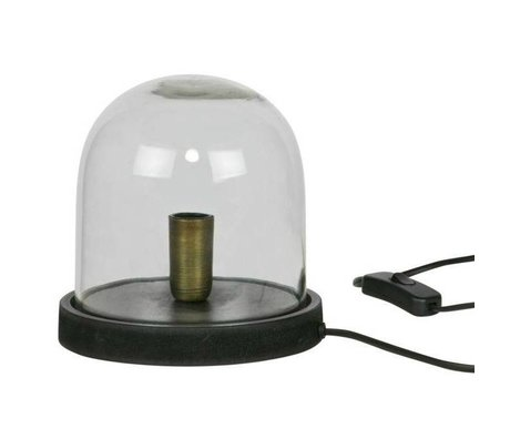 BePureHome Table Lamp Cover up too black timber glass 19xØ17cm