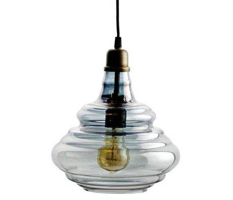 BePureHome Hanglamp Pure grijs glas 28xØ25cm