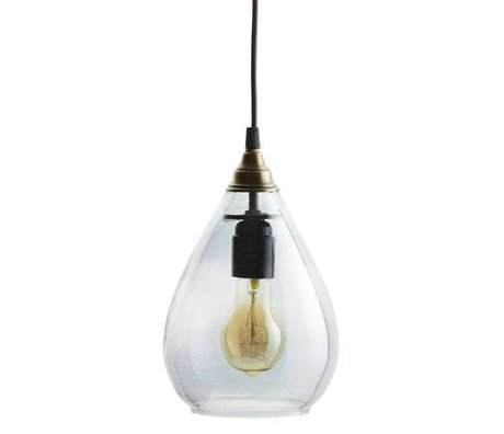 BePureHome Hanglamp Simple gray glass M 25xØ11cm