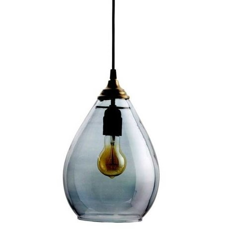BePureHome Hanging lamp Simple gray glass L 28xØ18cm