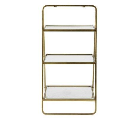 BePureHome Beistelltisch Göttin Gold Metall 58x33x106cm