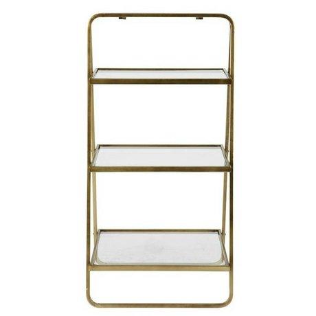 BePureHome Table d'appoint Déesse en métal doré 58x33x106cm