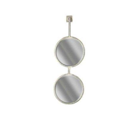 BePureHome Miroir de chaîne double miroir M 64x29x22cm en métal noir