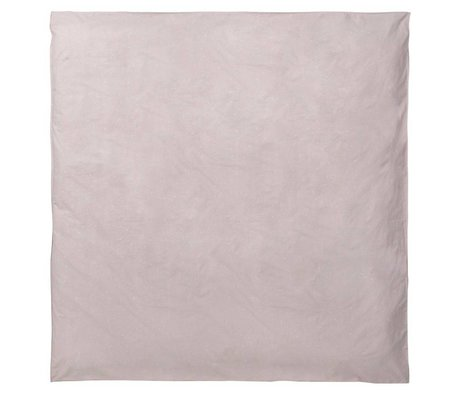 Ferm Living Duvet Chut Milkyway rose clair coton 200x200cm organique