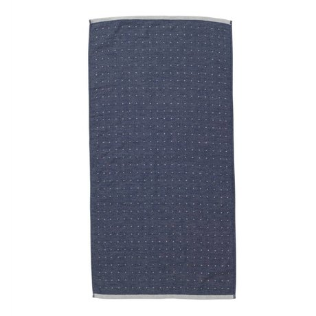 Ferm Living Sento blue towel organic cotton 50x100cm