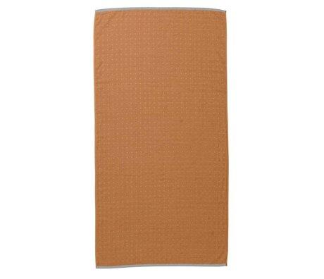 Ferm Living Towel Sento mustard yellow organic cotton 70x140cm