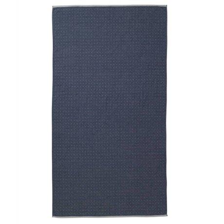 Ferm Living Serviette Sento coton bleu 100x180cm organique