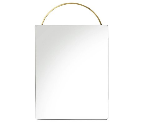 Ferm Living Adorn mirror brass gold metal 35x53cm