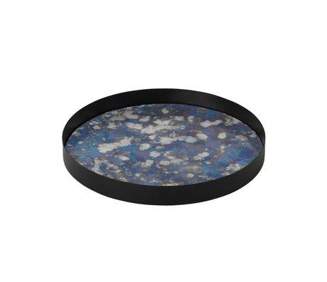 Ferm Living Gekoppelt Tablett blau metallic farbigen Glas L Ø30x3,2cm