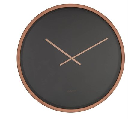 Zuiver bandit horloge temps cuivre noir aluminium Ø60x5cm