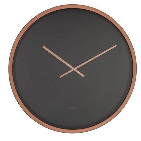 Zuiver Klok Time bandit zwart koper aluminium Ø60x5cm