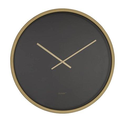 Zuiver Clock Time bandit black gold aluminum Ø60x5cm