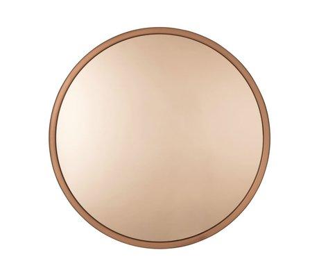 Zuiver Bandit Kupfermetallspiegelglas Ø60x5 cm