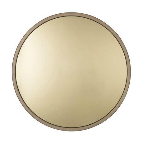 Zuiver Bandit métal or Ø60x5cm verre miroir