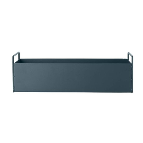 Ferm Living Box plant dark metal S 45x14,5x17cm