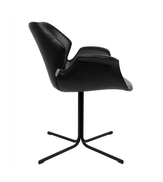 Nikki Métallique En Bureau Zuiver Cuir De Chaise Noir 66x62x80cm n8vNm0w