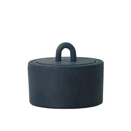 Ferm Living Stock Potty cast bleu foncé Ø9,5x6cm