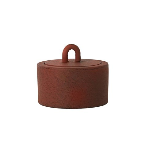 Ferm Living Stock Potty rouille Ø9,5x6cm de fer brun