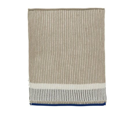 Ferm Living Dishcloth Akin beige multicolour cotton 26x32cm