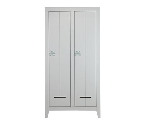 LEF collections Wardrobe Safe concrete gray wood 190x95x44cm