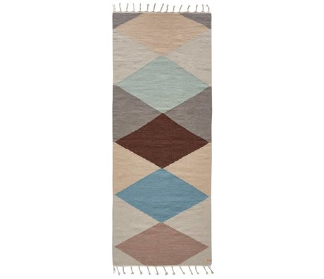 OYOY Hip rug back runner multicolored wool cotton 200x75cm