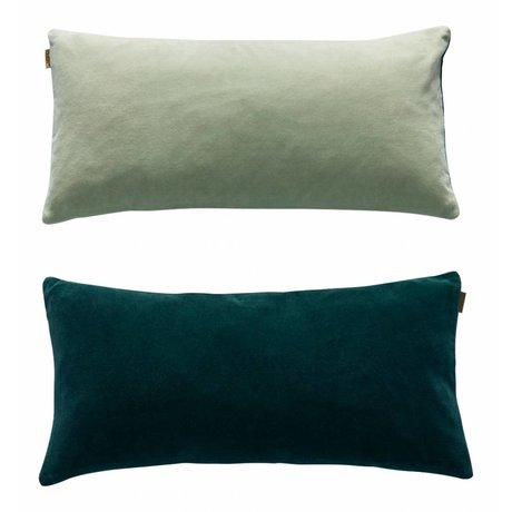 OYOY Cushion Lia sided green velveteen 31x60cm