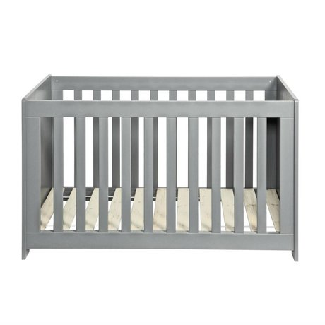 LEF collections Bedstead 'new life' concrete gray brushed pine 79x125x66cm