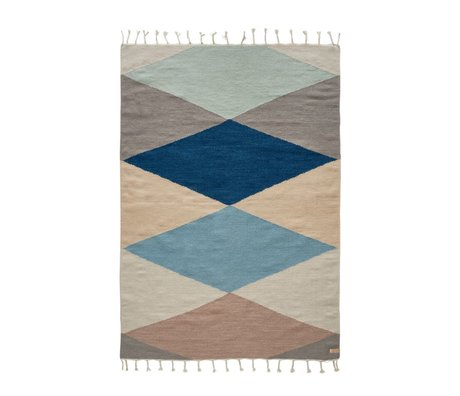 OYOY Hip rug back multicolored wool cotton 170x120cm
