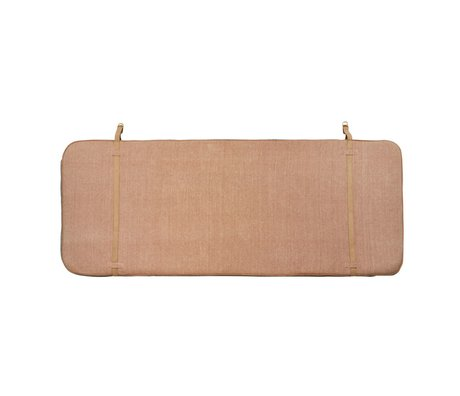 OYOY Headboard dark gray pink cotton leather 184x74x5cm