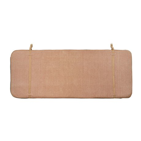 OYOY Tête de lit 184x74x5cm en coton rose en cuir gris foncé