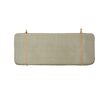 OYOY Headboard blue beige brown cotton leather 184x74x5cm